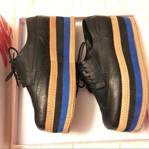 Jeffrey Campbell Ad-Man platform leather shoes 11